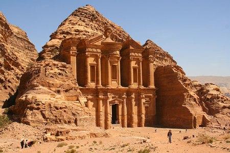 The Treasury Building at Petra in Jordan.