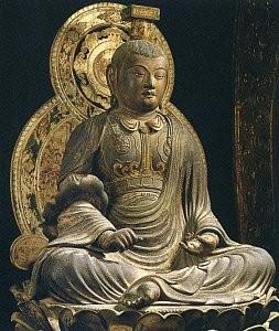 Seated Monju Bosatsu by Jokei at Kofuki-ji Temple, Nara, Japan.