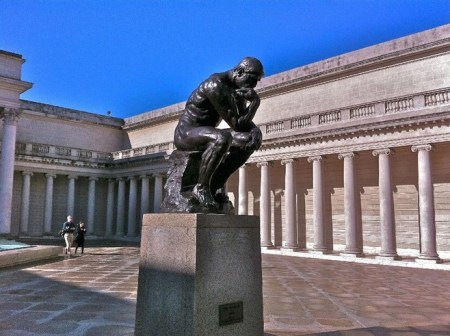 The Thinker at the Legion of Honor in San Francisco.