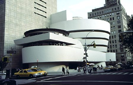 The Solomon R. Guggenheim Museum in New York City was designed by Frank Lloyd Wright.