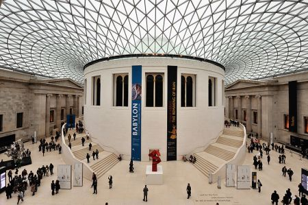 Norman Foster designed the renovated Great Court of the British Museum in London, UK.
