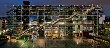Musée National d'Art Moderne is housed in the Centre Georges Pompidou in Paris, which was designed by