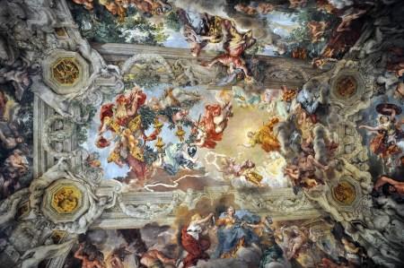 A view of Pietro da Cortona's fresco in the Palazzo Barberini.