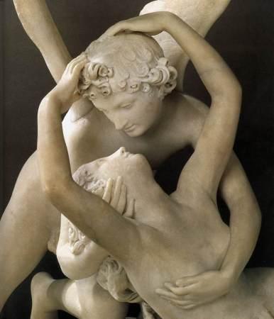Detail of Canova's Psyche Awakened by Cupid's Kiss.