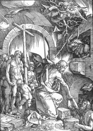 Christ in Limbo, one of a series of woodcuts by Albrecht Dürer known as The Large Passion.
