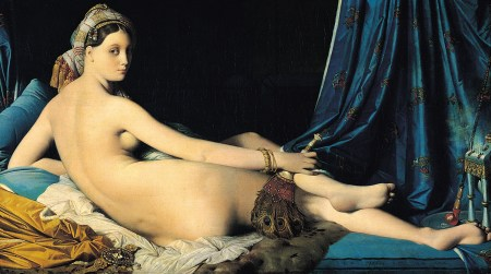 La Grand Odalisque, by Jean Auguste Dominique Ingres, was controversial, in part because the painter added several vertebrae to create his model's sinuous curves.