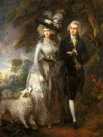 Thomas Gainsbourough's portrait of Mr. and Mrs. Hallett is also known as The Morning Walk.