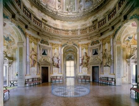 """A view of the interior of Andrea Palladio's Villa Capra """"La Rotonda."""""""