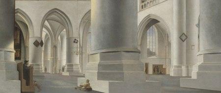 Detail from Pieter Saenredam's Interior of Grote Kerk, Haarlem.