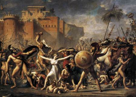 Jacques-Louis David's The Intervention of the Sabine Women.