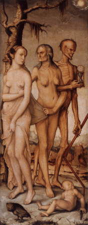 The Three Ages of Man and Death, by Hans Baldung Grien.