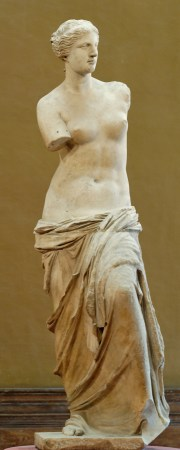 Venus de Milo is an original Greek marble statue from the Hellenistic period.