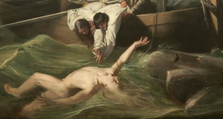 Detail of John Singleton Copley's Watson and the Shark.