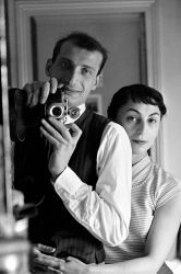 A 1954 self-portrait of Edouard Boubat with his wife Sophie in Paris.