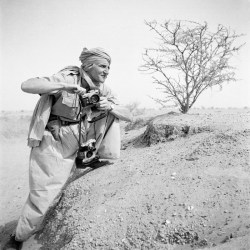 A 1949 photograph of George Rodger in Sudan.