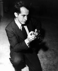 A 1954 photograph of Robert Frank. Getty Images.