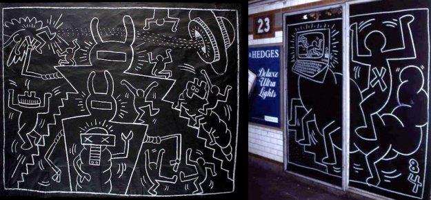 keith-haring-subway-drawings