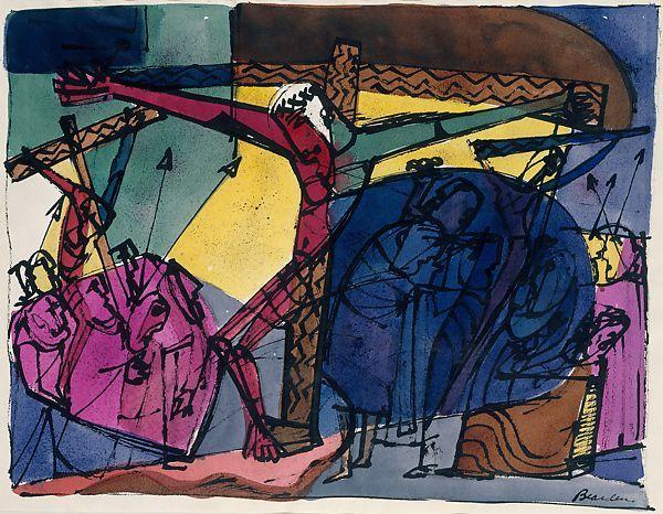 Bearden - Golgotha (1945) Met