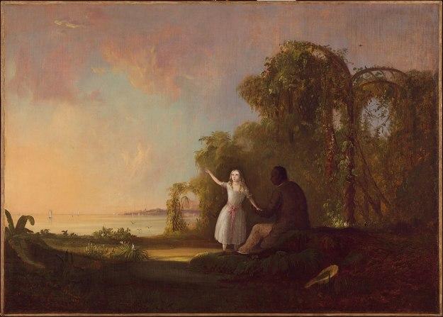 Duncanson - Uncle Tom and Little Eva (1853) Detroit