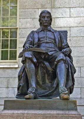 99C Daniel Chester French - John Harvard (1884) (1) Cambridge, MA