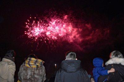 kids watching fireworks in beckenham