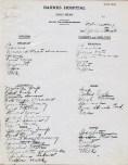Handwritten daily menu from Barnes Hospital, 1916