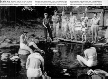 A photograph of nurses in Bataan from Life magazine, April 20, 1942 issue