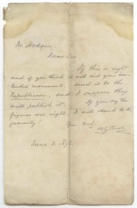 Eliot to Hodgen letter 1873