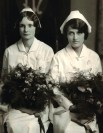 Bertha Lee Barr and Verrell Whitaker, Jewish Hospital School of Nursing students