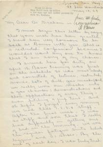 Lola Baird letter, 1944, page 1