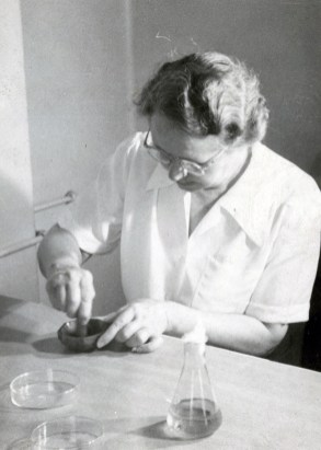 Margaret G. Smith, MD, in her lab, circa 1940