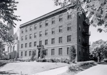 The dormitory on Forest Park Blvd. contained quarters for about 60 students. The building featured a social hall in the basement. The rental price of a room in 1915 was $10 per month.