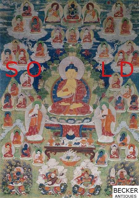 Thirty-five-Buddhas-Thangka-with-Buddha-Shakyamuni