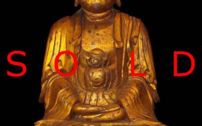 Rare Gilt Dry Lacquer Figure of Buddha