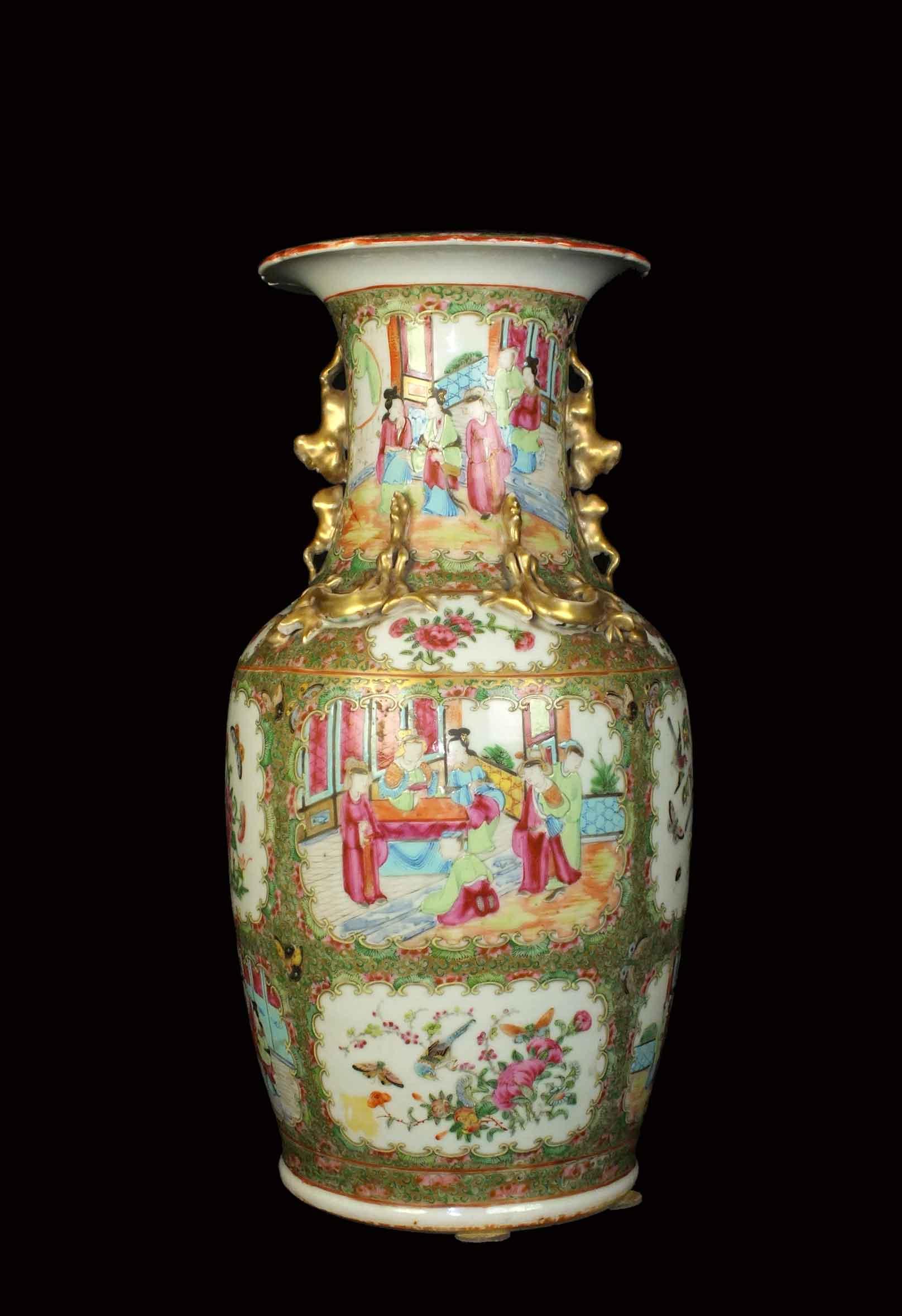 Canton famille rose vase becker antiques amsterdam canton famille rose vase reviewsmspy