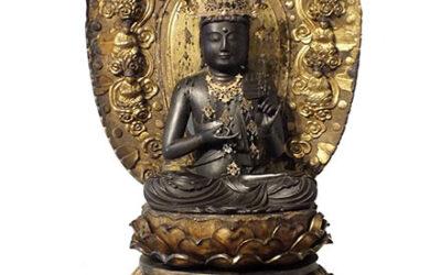 Historically Important Monumental Japanese Bodhisattva
