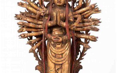Japanese Giltwood Kannon Bodhisattva