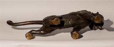 Meiji Period Bronze Tiger  (5)