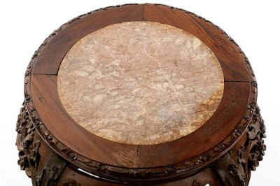 Rosewood Marble Low Table (2)