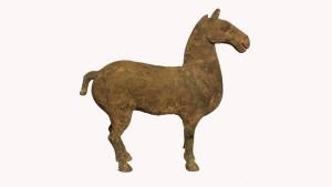 Grey Pottery Horse
