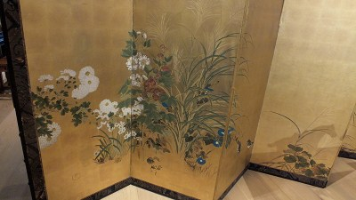 FINE JAPANESE FOLDING SCREEN (1)