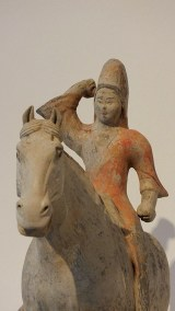 Painted Red Pottery Equestrian Figure (3)
