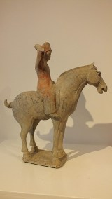 Painted Red Pottery Equestrian Figure (9)