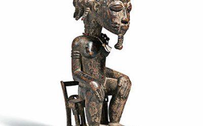 Fine Baule Seated Male Figure