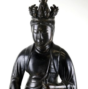Rare Large Bronze Seven Headed Kannon (2)