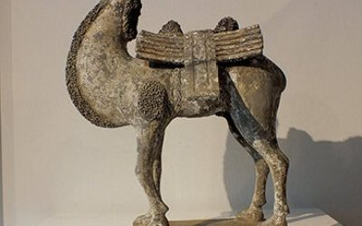 Extremely Rare Painted Gary Pottery Bactrian Camel