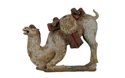 Large Tang Dynasty Crouching Bactrian Camel