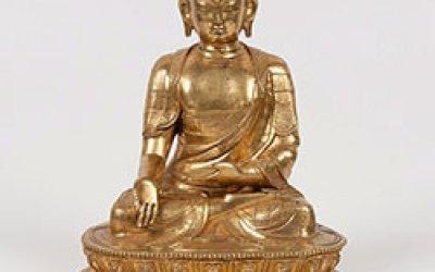 A Massive Gilt-Bronze Shakyamuni Buddha