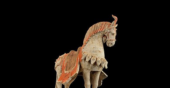 Standing Caparisoned Horse