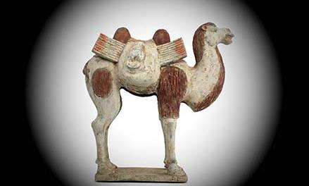 Painted Pottery Bactrian Camel